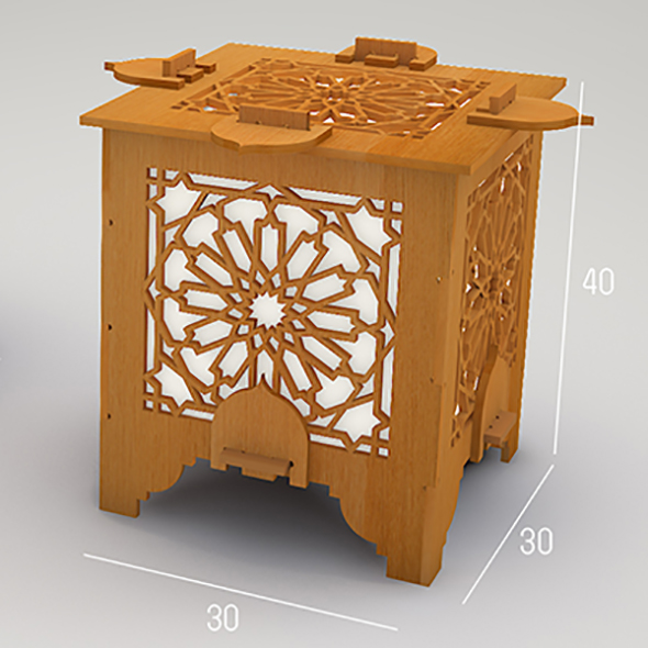 Islamic lantern cnc drawing