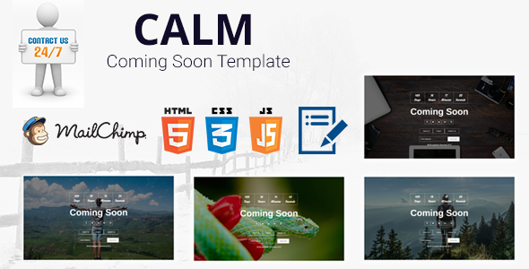 Calm –  Coming Soon Page / Template
