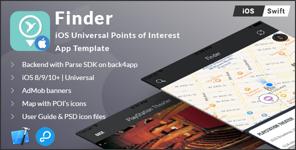 Download Source code              Finder | iOS Universal Points of Interest App (Swift) nulled version