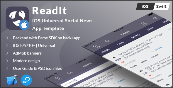 Readit | iOS Universal Social News App Template (Swift) - CodeCanyon Item for Sale