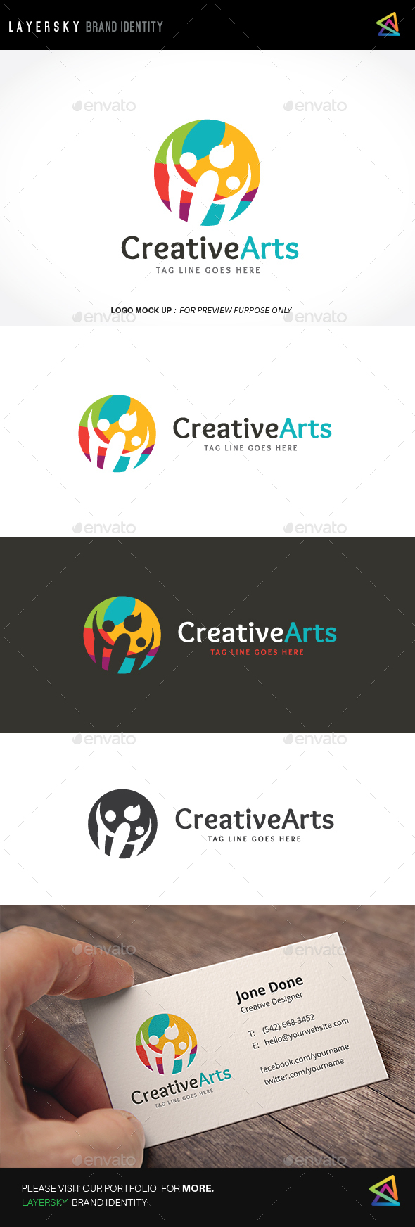 Creative Arts Logo - Humans Logo Templates