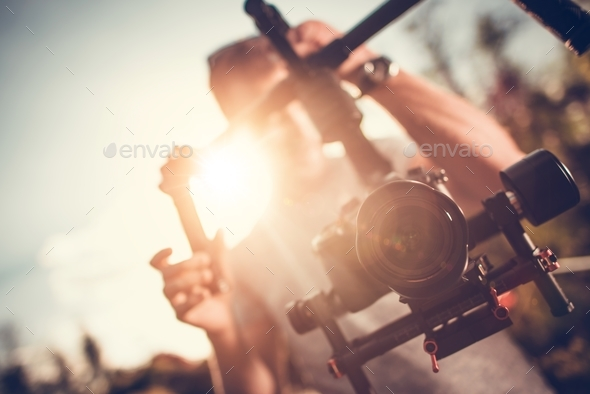 Camera Gimbal DSLR Video - Stock Photo - Images