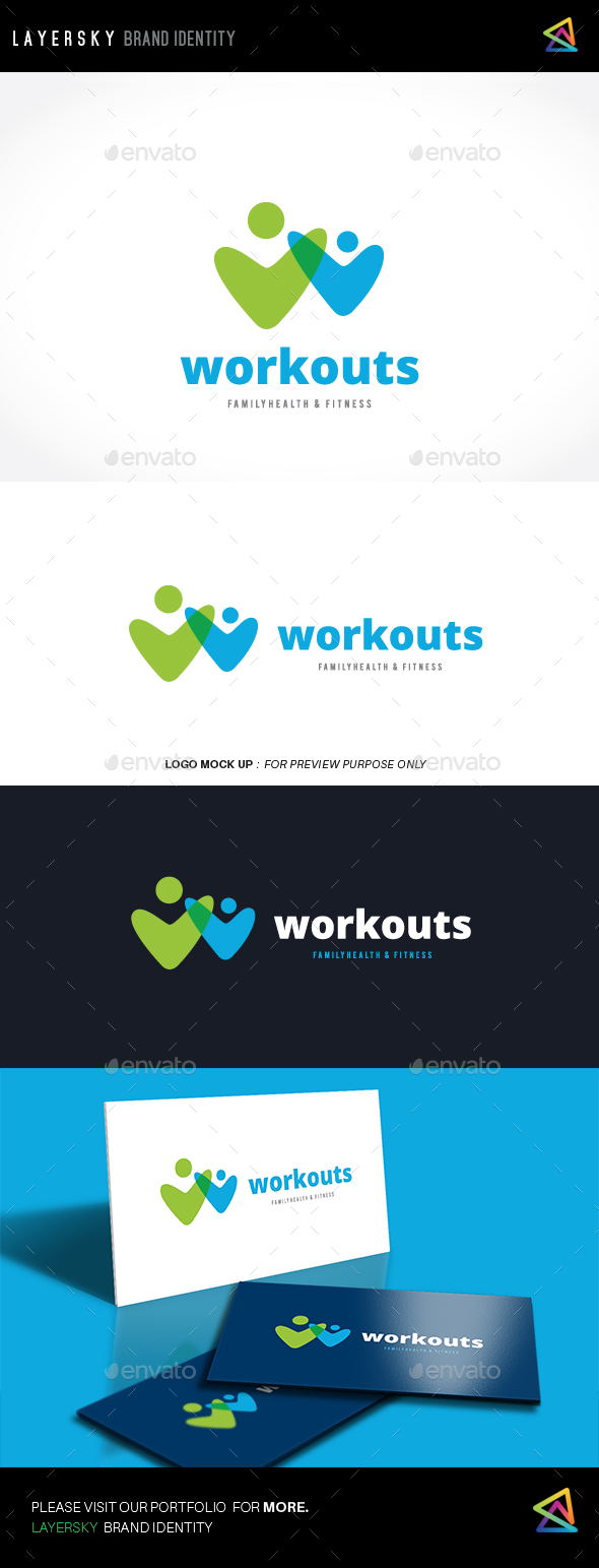 Workouts Logo - Humans Logo Templates