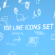 100 line Icons Set - VideoHive Item for Sale