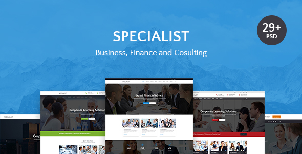 Specialist | Multipurpose Business & Financial, Consulting, Accounting, Broker Psd Templates