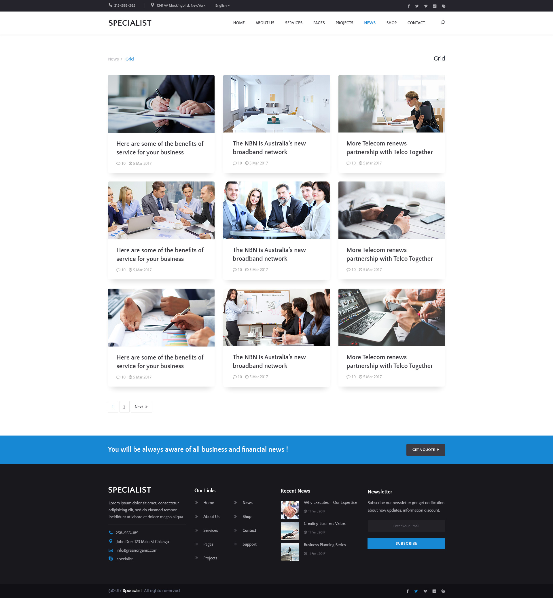 specialist multipurpose business financial consulting accounting broker psd templates - Online Advertising Specialist