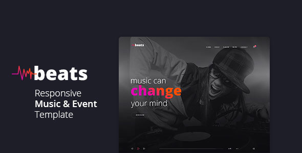 Beats – Responsive Music & Event Template
