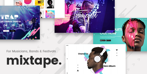 Mixtape – A Fresh Music Theme for Artists, Bands, and Festivals