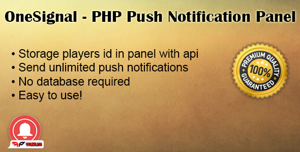 OneSignal PHP Push Notification Panel - CodeCanyon Item for Sale