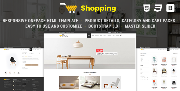 Shop – Responsive eCommerce HTML Template