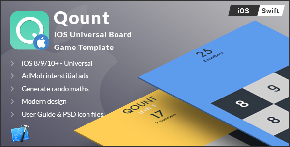 QOUNT |  iOS Universal Math Game Template (Swift) - CodeCanyon Item for Sale