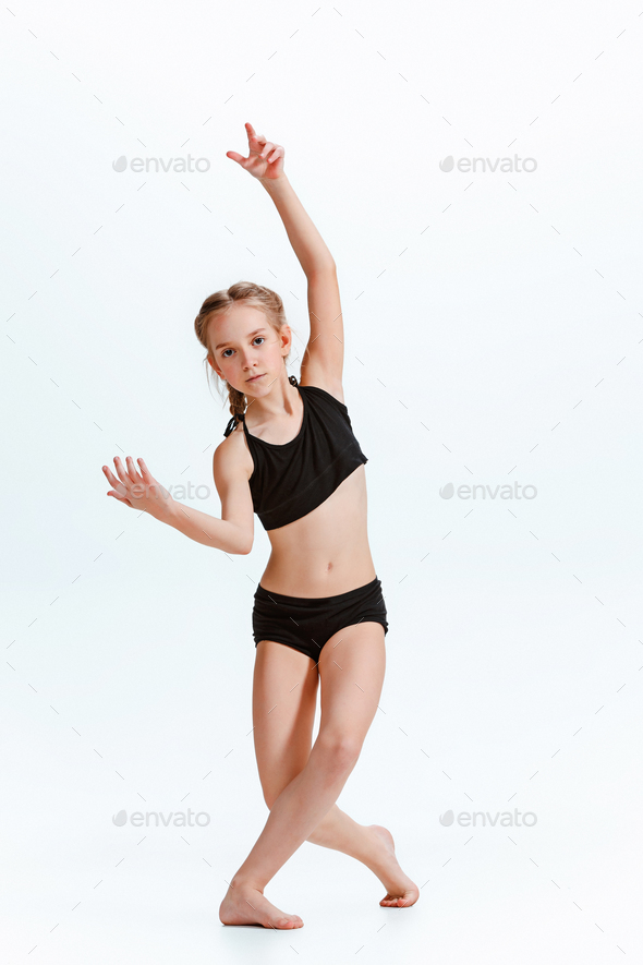 Young girl break dancing - Stock Photo - Images