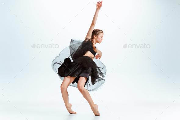 Young girl break dancing - Stock Photo - Images