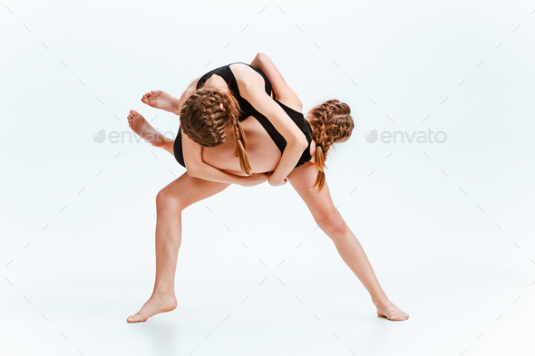 The kids dance school, ballet, hiphop, street, funky and modern dancers - Stock Photo - Images