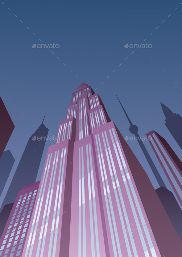 Art Deco Tower 2 - Buildings Objects
