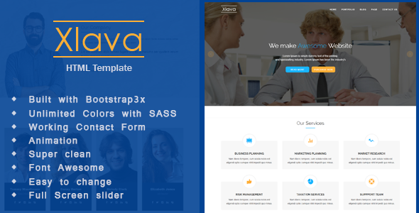 Xlava – Corporate, Agency Business HTML5 Template
