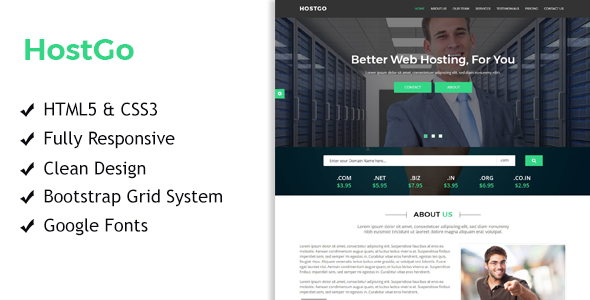 HostGo - Web Hosting Responsive HTML Template - Hosting Technology