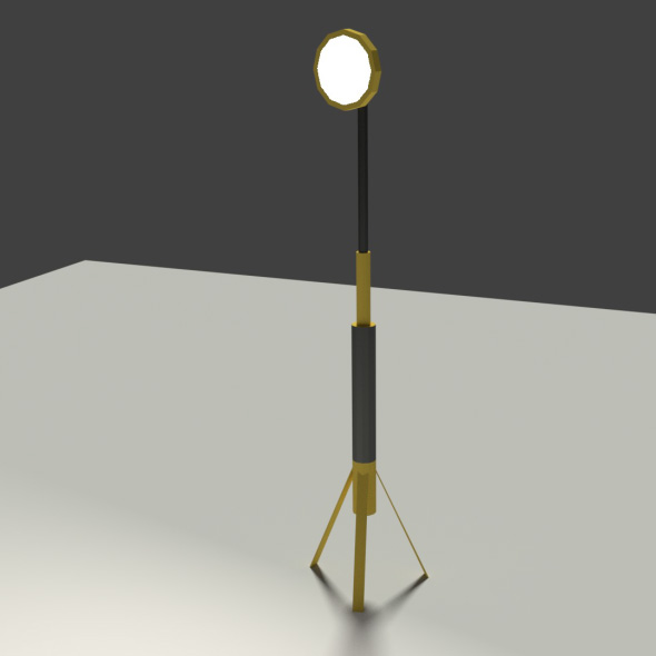 Low Poly Industrial Light - 3DOcean Item for Sale