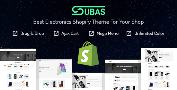 Subas – Electronics Drag & Drop Shopify Theme