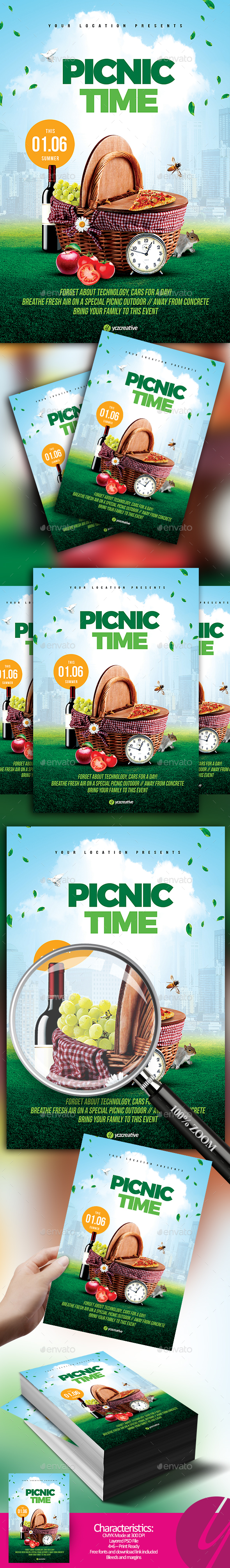 Picnic Time Flyer - Events Flyers