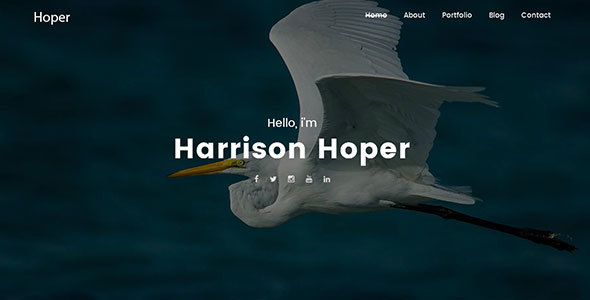 Hoper – Creative Portfolio WordPress Theme