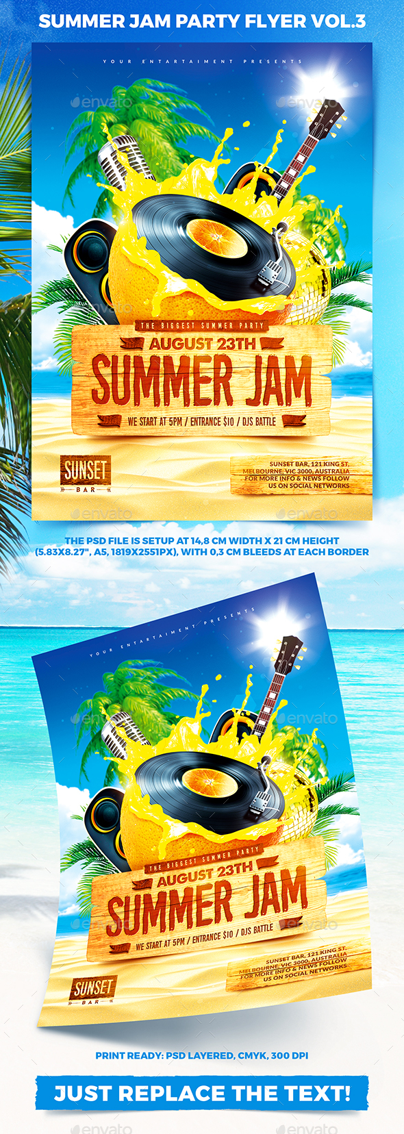 Summer Jam Party Flyer vol.3 - Clubs & Parties Events