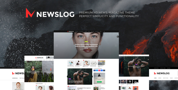 Newslog - Clean News & Magazine WordPress Theme - News / Editorial Blog / Magazine