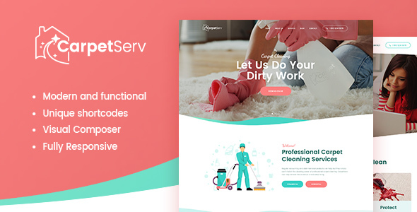 CarpetServ | Cleaning Company & Janitorial Service - Miscellaneous WordPress