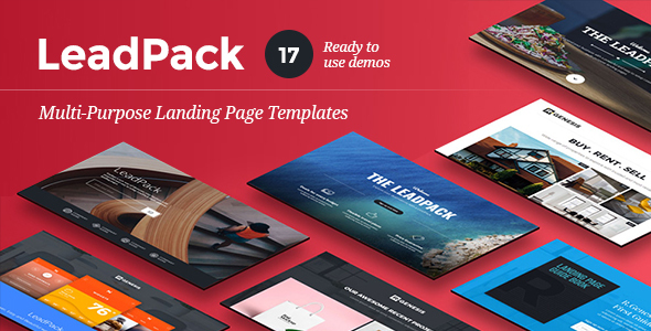 LeadPack - Multi-Purpose Landing Pages - Landing Pages Marketing