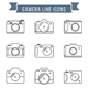 Camera Line Icons - GraphicRiver Item for Sale