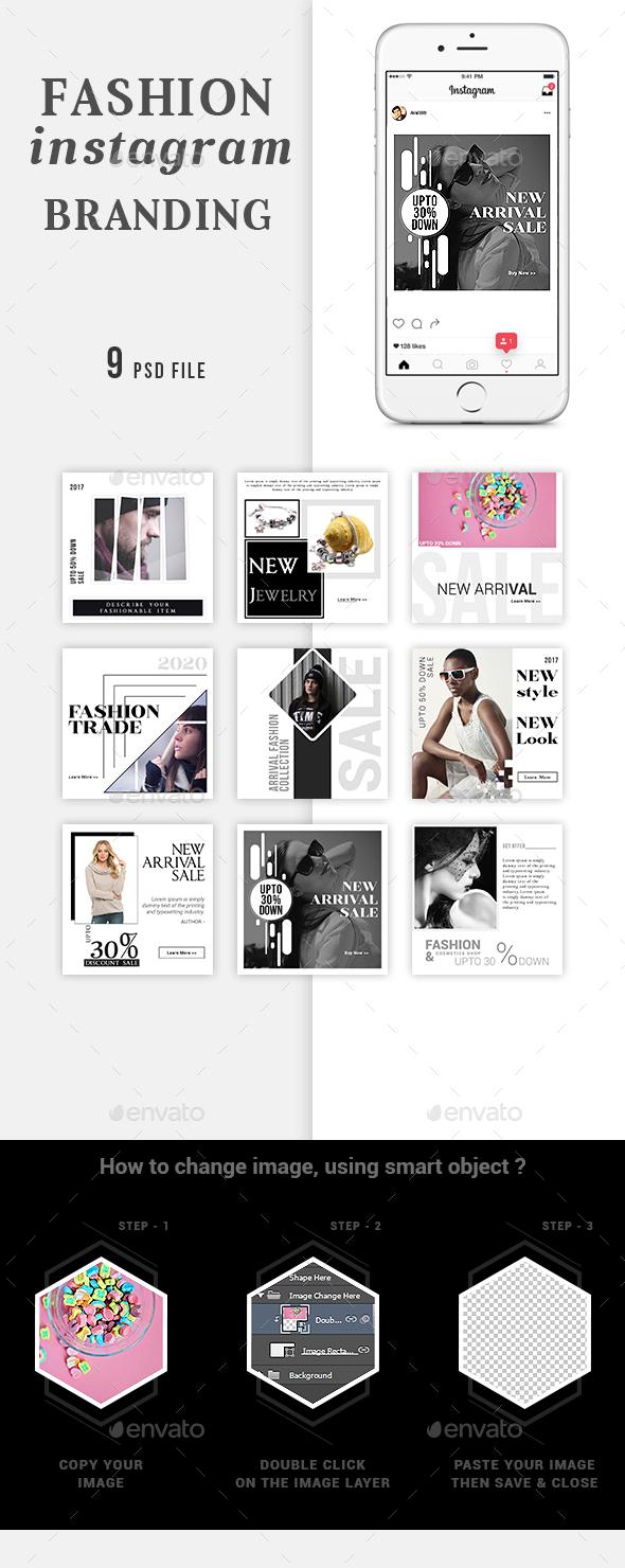 Fashion Instagram Branding - Social Media Web Elements