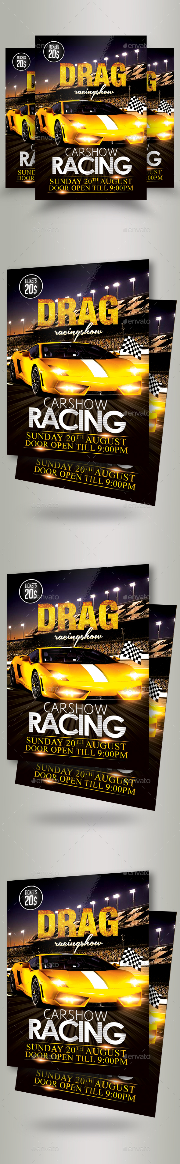 Car Racing Flyer Template - Sports Events