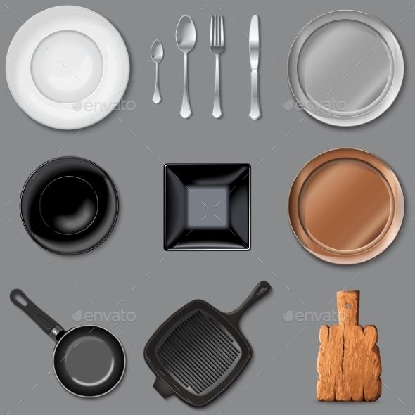 Vector Set of Kitchen Tools - Miscellaneous Vectors