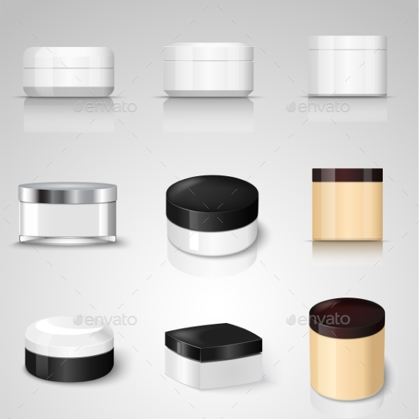 Packaging Containers Vector Templates Set - Man-made Objects Objects
