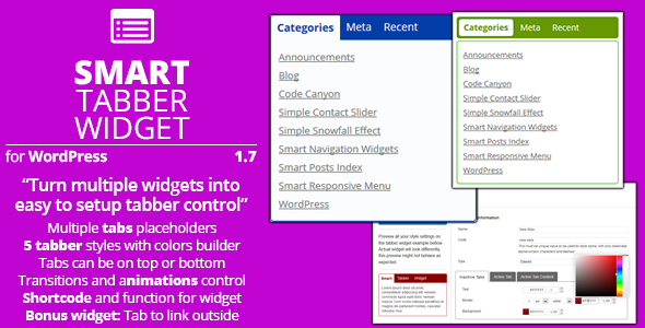 Smart Tabber Widget