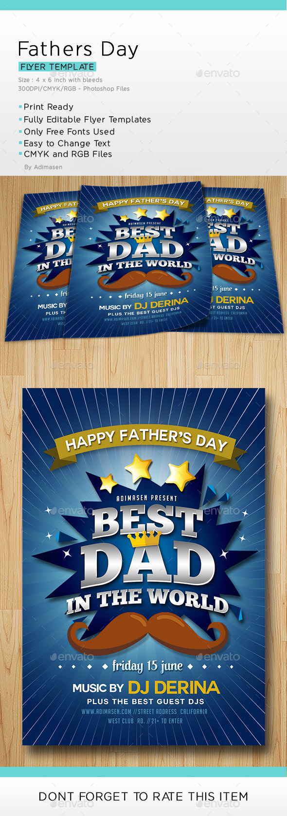 Fathers Day Flyer - Flyers Print Templates