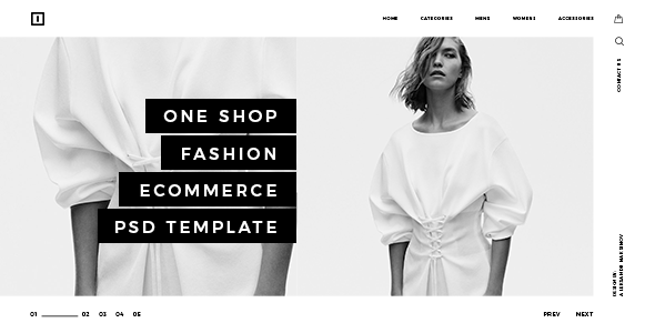 ONE SHOP – Fashion Ecommerce PSD Template