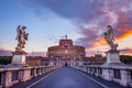 Scenic view of Castle of St. Angelo in Rome at sunrise - PhotoDune Item for Sale