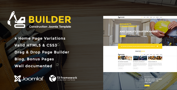 Builder - Joomla Construction Template - Business Corporate