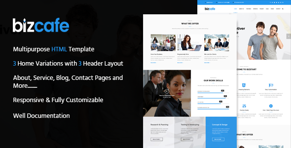 Bizcafe Corporate HTML Template
