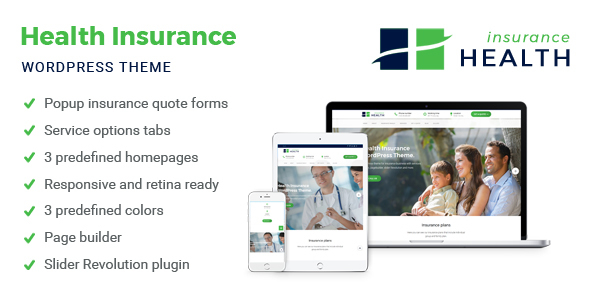 Health Insurance – WordPress Theme