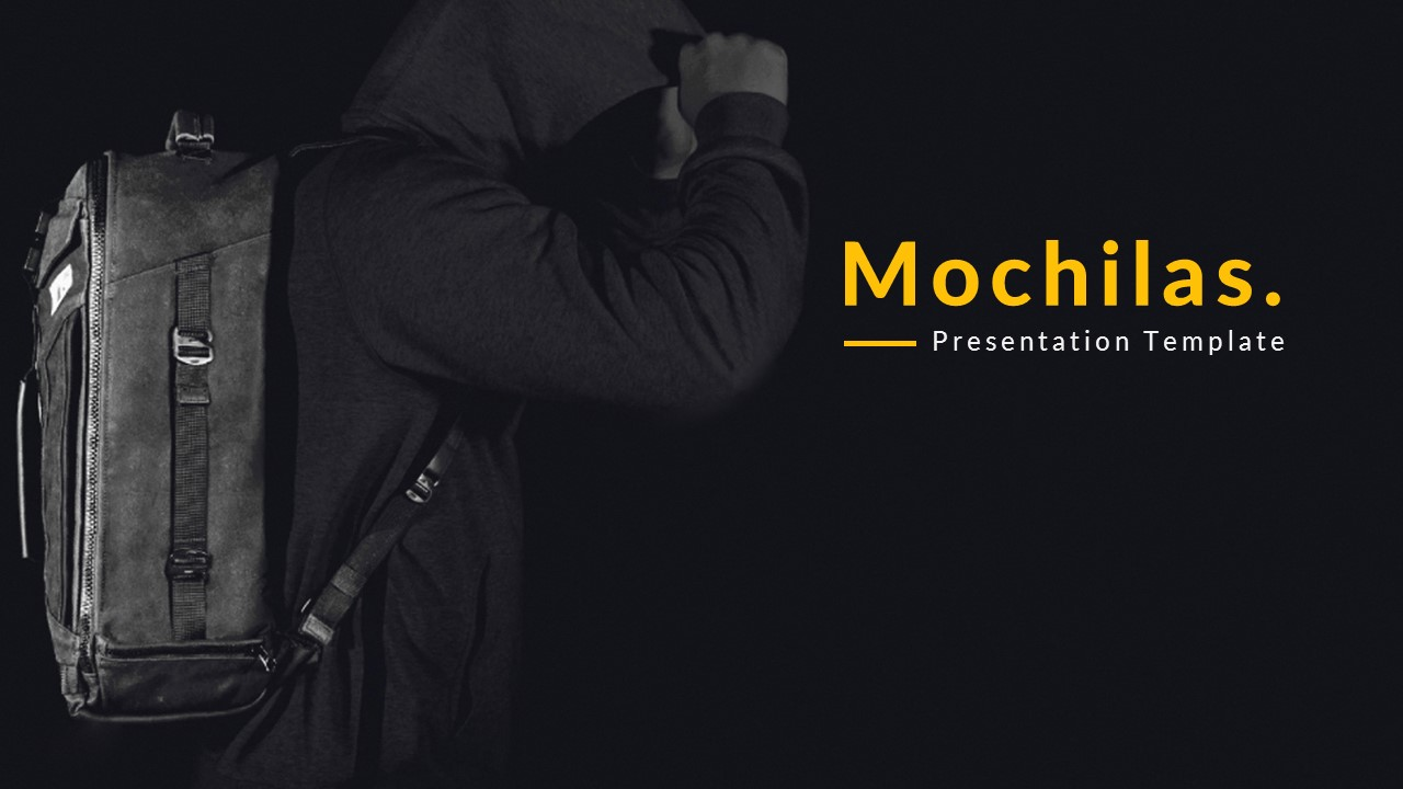 Mochilas - Creative PowerPoint Template