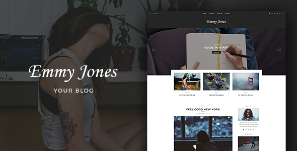 Emmy Jones – Blog PSD Template
