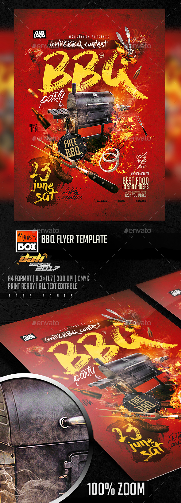 BBQ Flyer Template - Flyers Print Templates