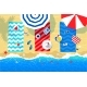 Beach Mats and Accessories on Sand - GraphicRiver Item for Sale