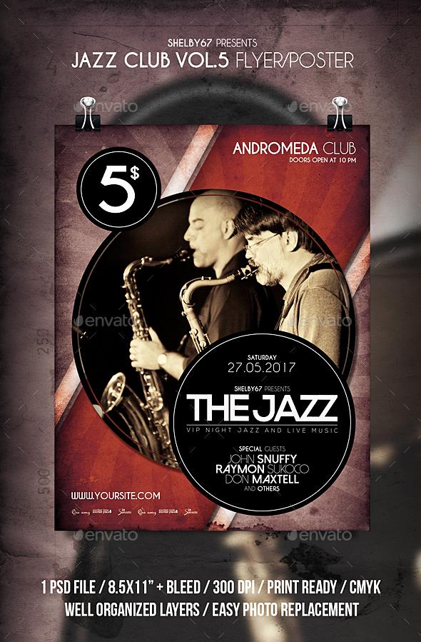 Jazz Club Flyer / Poster Vol 5 - Events Flyers