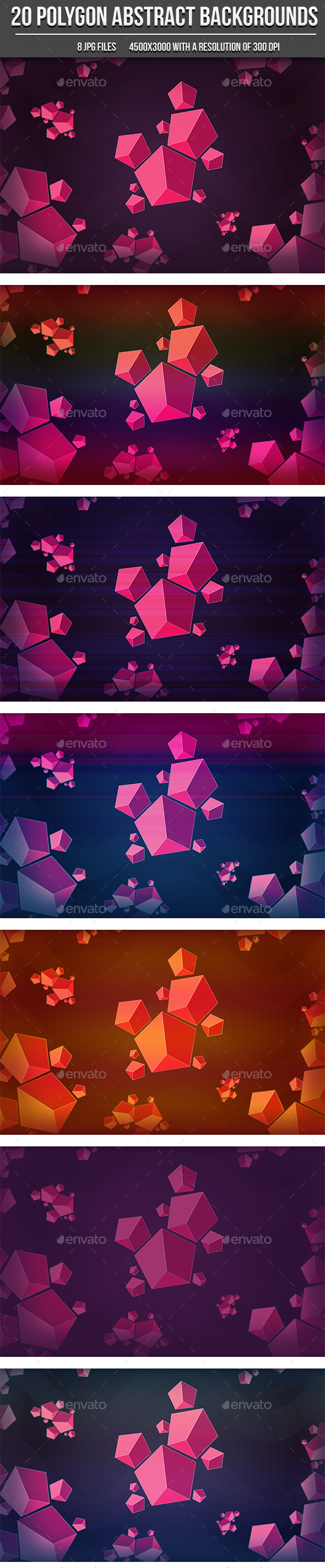 Abstract Polygons Backgrounds - Abstract Backgrounds