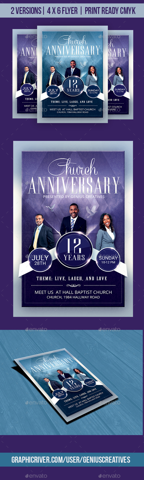 Church Anniversary Flyer Template by GeniusCreatives | GraphicRiver
