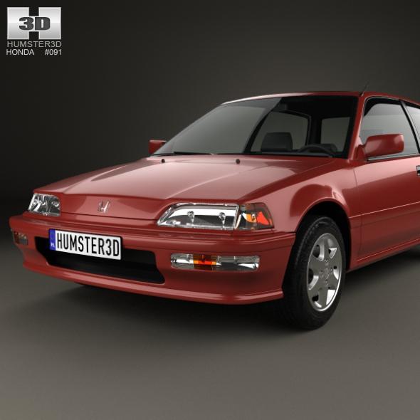 Honda Civic Hatchback 1987 By Humster3d 3docean