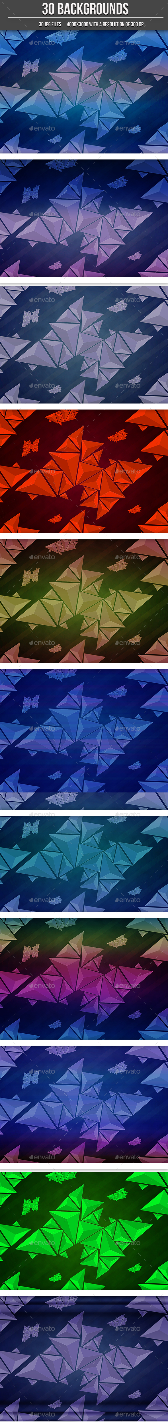 30 Abstract Triangle Backgrounds - Abstract Backgrounds
